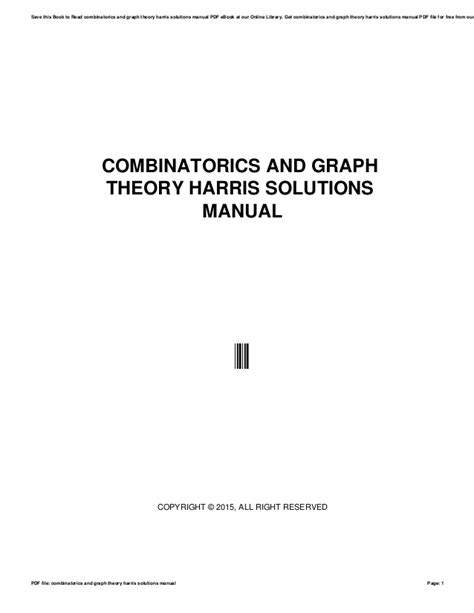 Combinatorics And Graph Theory Solutions Manual