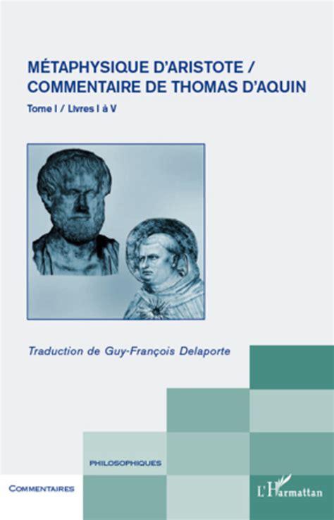 Commentaire De Thomas D Aquin Tome 1 Physiques D Aristote