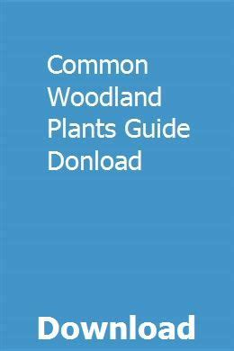 Common Woodland Plants Guide Donload
