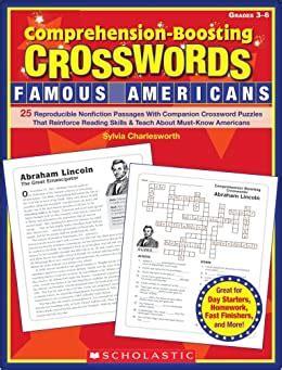 Comprehension Boosting Crosswords Thomas Jefferson Answer Key