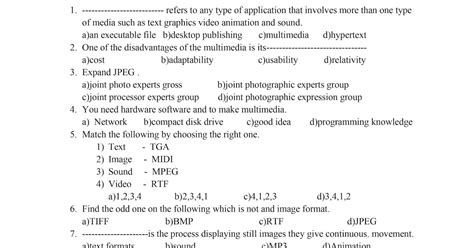 Computer One Mark Guide For 12th Std
