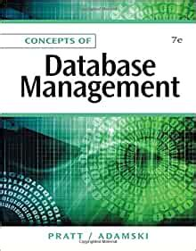 Concepts Of Database Management 7th Edition Amazon