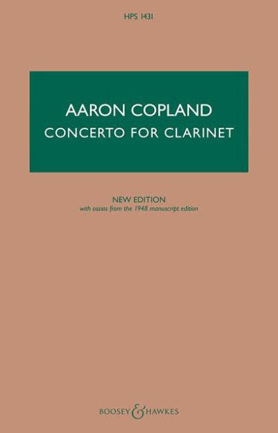 Concerto for Clarinet: Clarinet and String Orchestra, with Harp and Piano New Edition