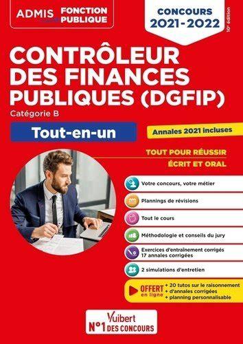 Concours Controleur Des Finances Publiques Dgfip Categorie B Tout En Un
