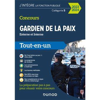 Concours Gardien De La Paix 2019 2020 Externe Et Interne Tout En Un