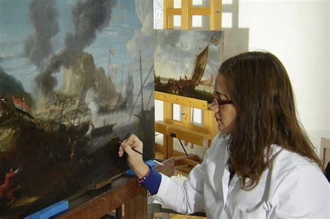 Conservacion Y Restauracion De Pintura Sobre Lienzo Cultura Artistica