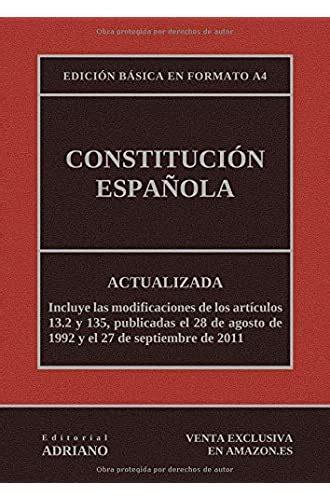 Constitucion Espanola Actualizada Incluyendo La Ultima Reforma Recogida En La Descripcion