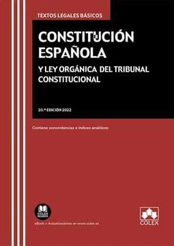 Constitucion Espanola Incluye La Ley Organica Del Tribunal Constitucional Derecho Biblioteca De Textos Legales