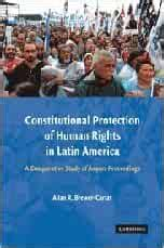 Constitutional Protection Of Human Rights In Latin America A Comparative Study Of Amparo Proceedings