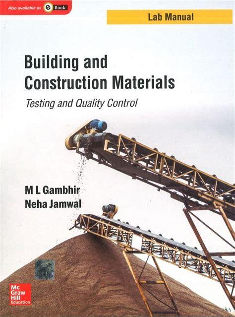 Construction Materials Lab Manual