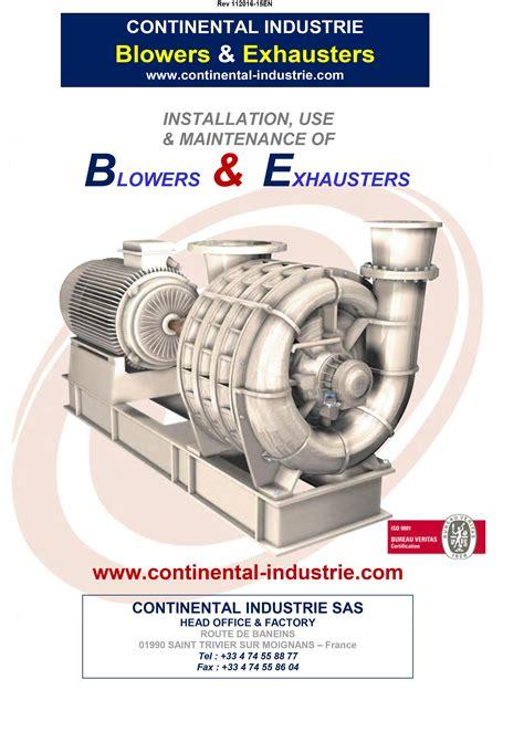 Continental Blower Manual