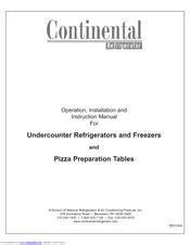 Continental Refrigerator Service Manual