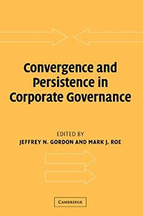 Convergence And Persistence In Corporate Governance