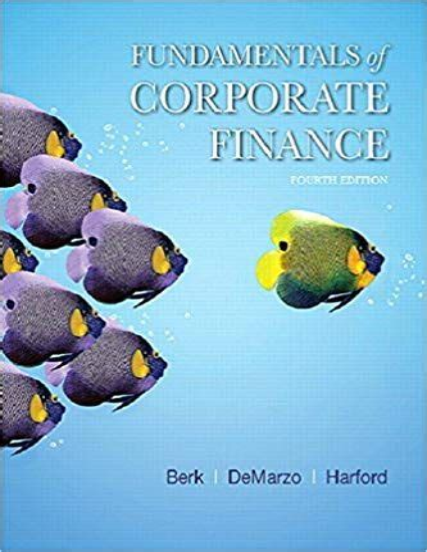 Corporate Finance Berk Instructor Manual