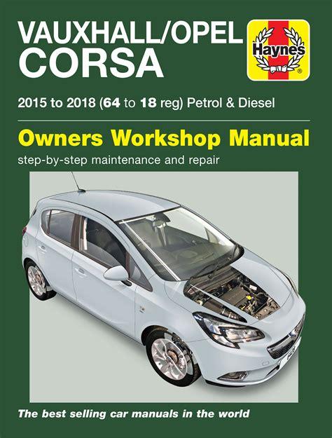 Corsa 2015 Workshop Manual