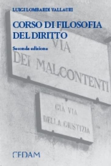 Corso Di Filosofia Del Diritto