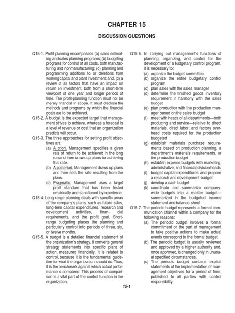 Cost Accounting By Carter Solution Manual