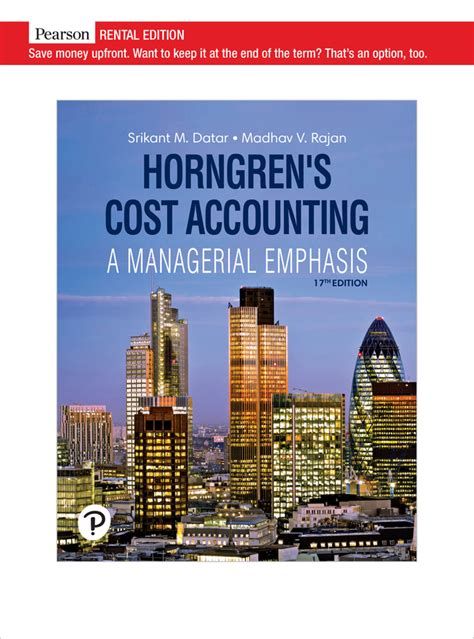 Cost Accounting Charles Horngren Solution Manual