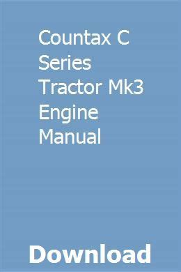 Countax C Series Tractor Mk3 Engine Manual