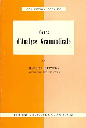 Cours Danalyse Grammaticale Guide