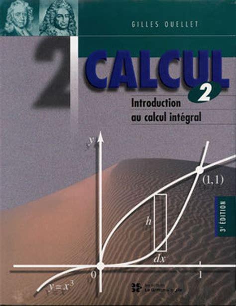 Cours de Mathématiques Générales. TOME II : Calcul différentiel et Calcul Intégral.
