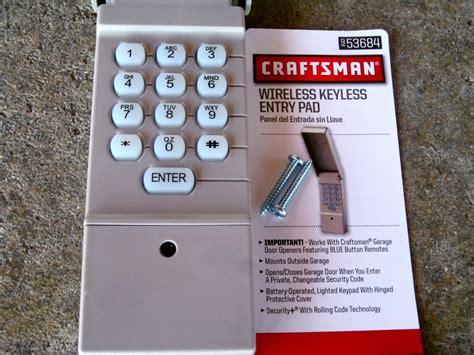 Craftsman Garage Keypad Manual