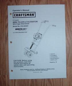 Craftsman Mini Tiller Repair Manual