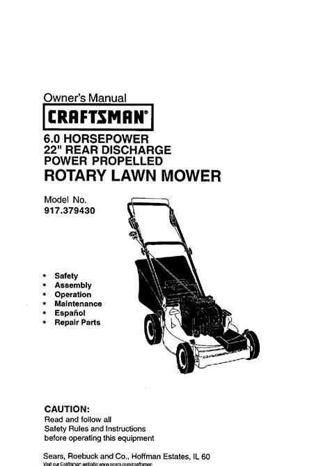 Craftsman Push Lawn Mower Manual