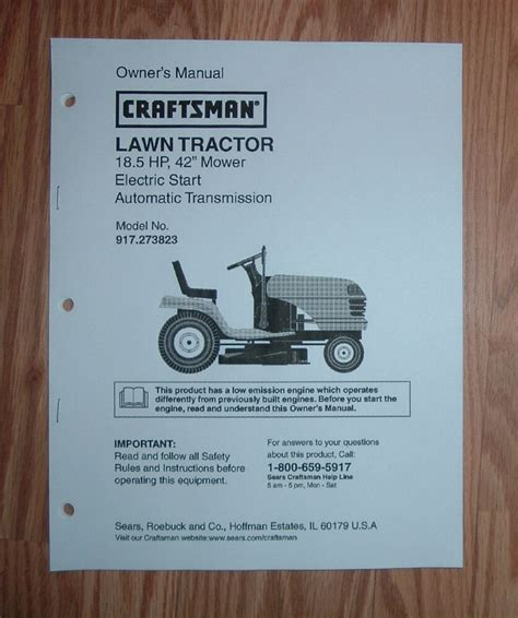Craftsman Tractor Lawn Parts Manual