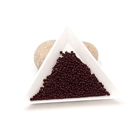 Creafirm 5 grammes de Perles Miyuki Rocailles 11/0 Opaque Chocolate 409