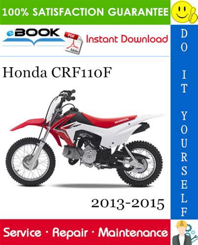 Crf110f 2013 Repair Workshop Manual