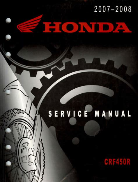 Crf450r Service Manual Repair 2007 2008 Crf450