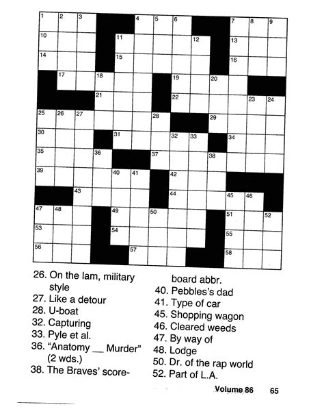 Crossword Puzzles For Seniors Large Print Crossword Easy Puzzle Books Volume 2 Crossword And Word Search Puzzle Books For Adults