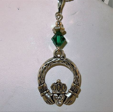 Crystal Birthstone Pewter Bookmark With Heart - Made Using Swarovski Crystals - JULY - RUBY