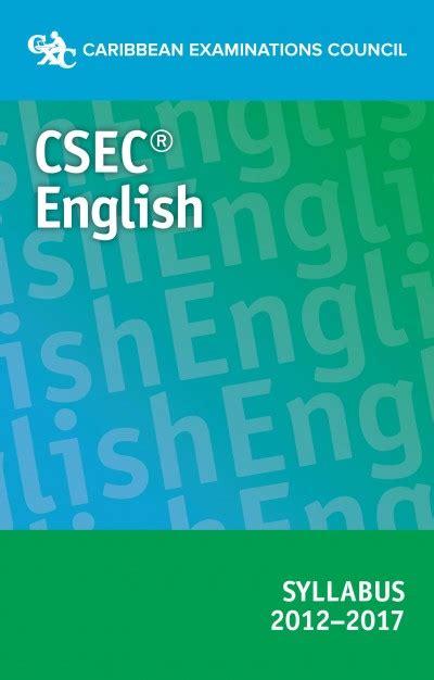 Csec Guide English A Syllabus 2013