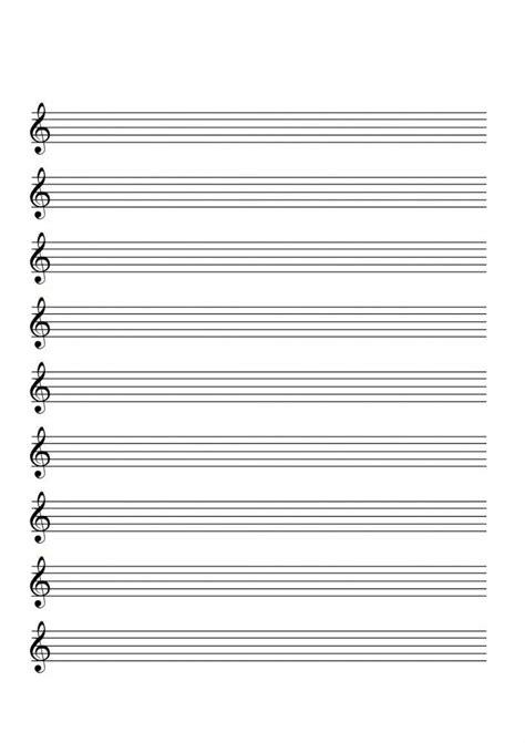 Cuaderno De Musica Pentagrama Adecuado Para Escribir Notacion Musical A4 Con 12 Pentagramas Por Pagina