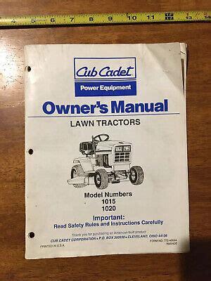 Cub Cadet 1020 Lawn Tractor Full Service Repair Manual
