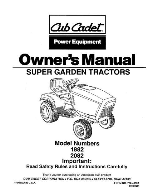Cub Cadet 1882 Tractor Full Service Repair Manual