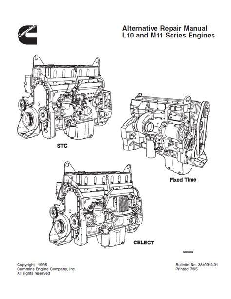 Cummins L10 M11 Series Diesel Engine Alternative Repair Manual