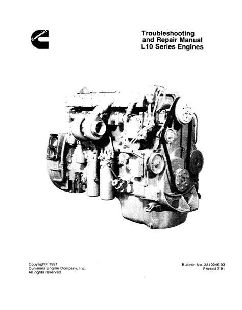 Cummins L10 Series Diesel Engine Workshop Repair Manual