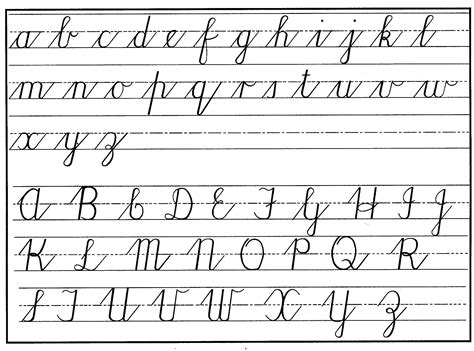Cursive Letters Tracing Guide
