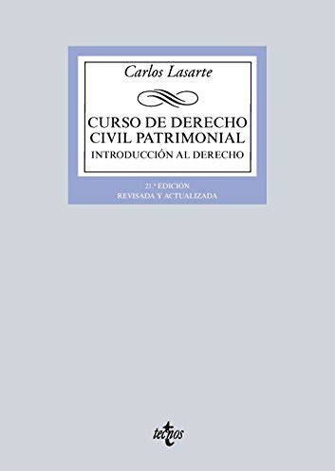 Curso De Derecho Civil Patrimonial Introduccion Al Derecho Derecho Biblioteca Universitaria De Editorial Tecnos