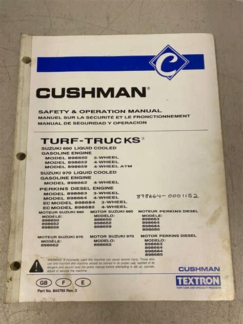 Cushman 898662 Manual