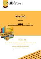DA-100 PDF Demo