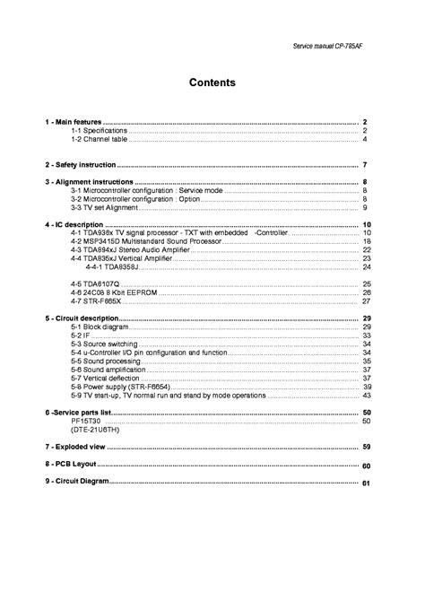 Daewoo Dte21u6th Tv Service Manual