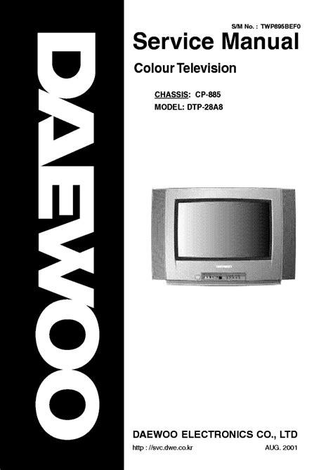 Daewoo Dtp 28a8 Color Tv Repair Manual