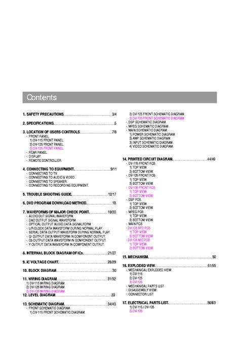 Daewoo Dv 135 Dvd Player Service Manual