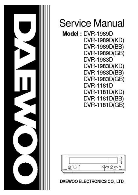 Daewoo Dvr Manual