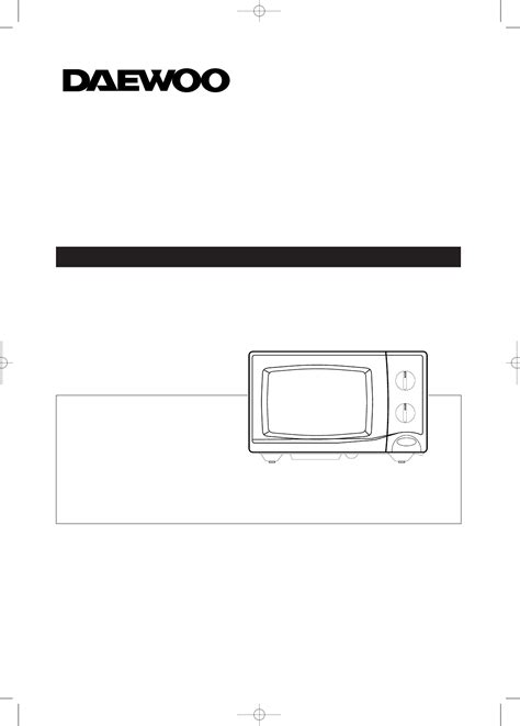 Daewoo Kog 3705 Microwave Oven Service Manual