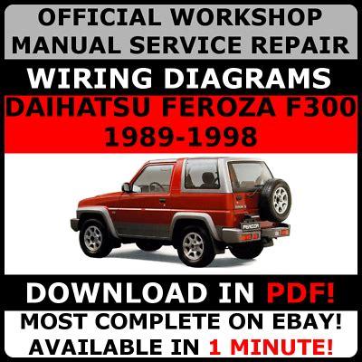 Daihatsu Feroza F300 Diesel Engine Workshop Repair Manual All Models Covered